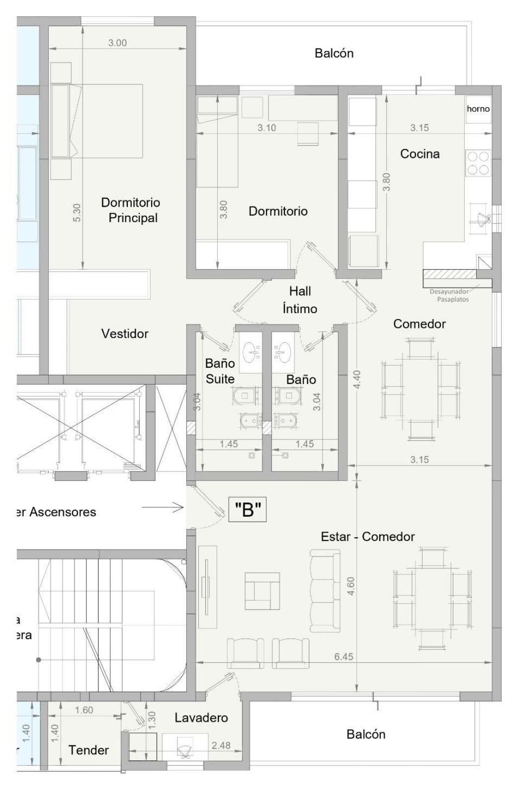 DEPARTAMENTO B - Edificio Facundo